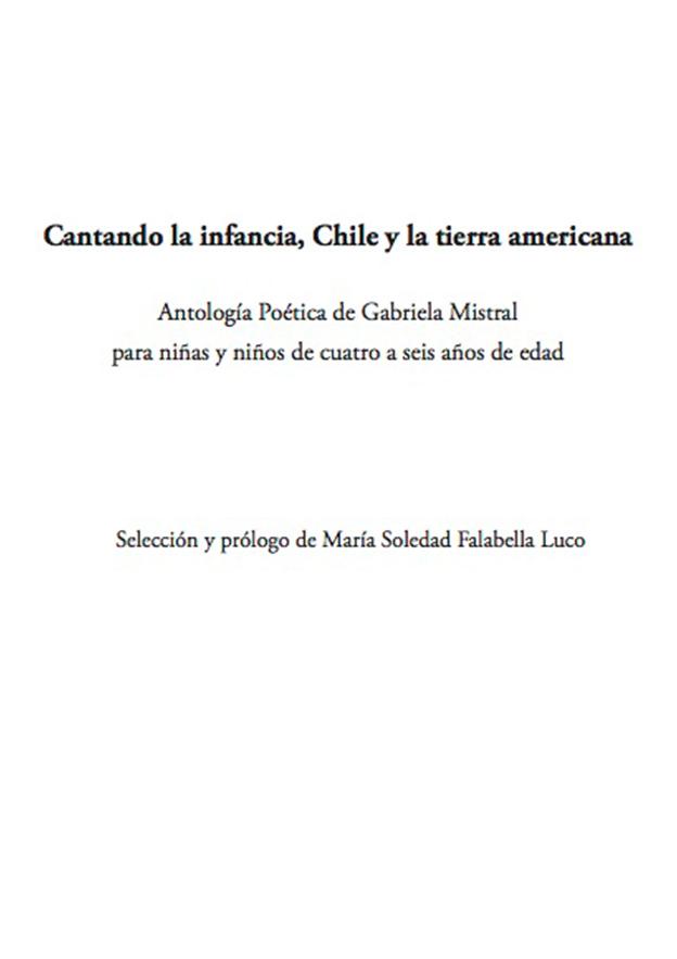 Cantando La Infancia Chile Y La Tierra Americana